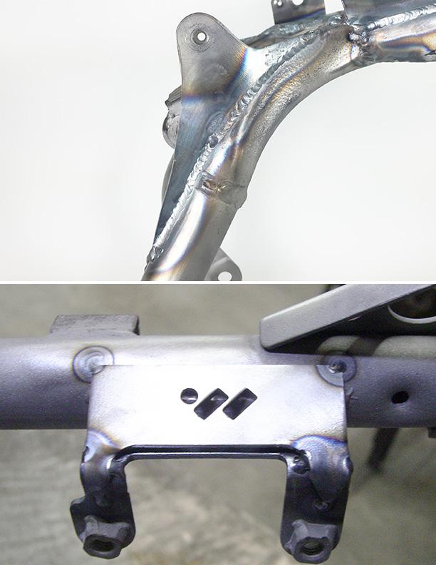WALSH TRX450R Gusset kit (installed) (7)