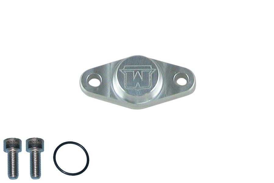 Brake caliper block off plate, rear