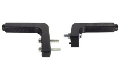 trx450r fender brackets, rear, black