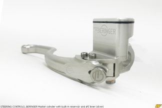 STEERING CONTROLS, BERINGER Master cylinder with built-in reservoir and #5 lever (silver)