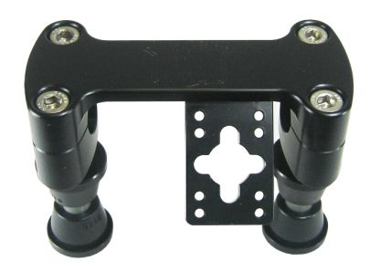 Steering handlebar clamp (black)