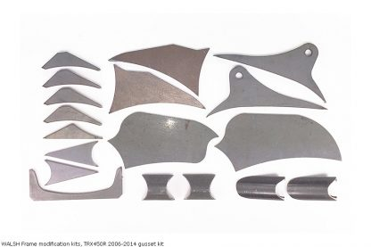 WALSH Frame modification kits, TRX450R 2006-2014 gusset kit