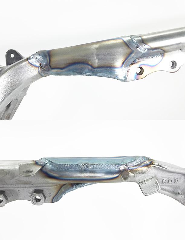 WALSH TRX450R Gusset kit (installed) (5)