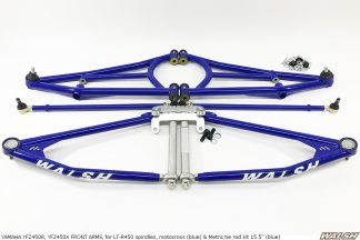 YAMAHA YFZ450R, YFZ450X FRONT ARMS, for LT-R450 spindles, motocross (blue)